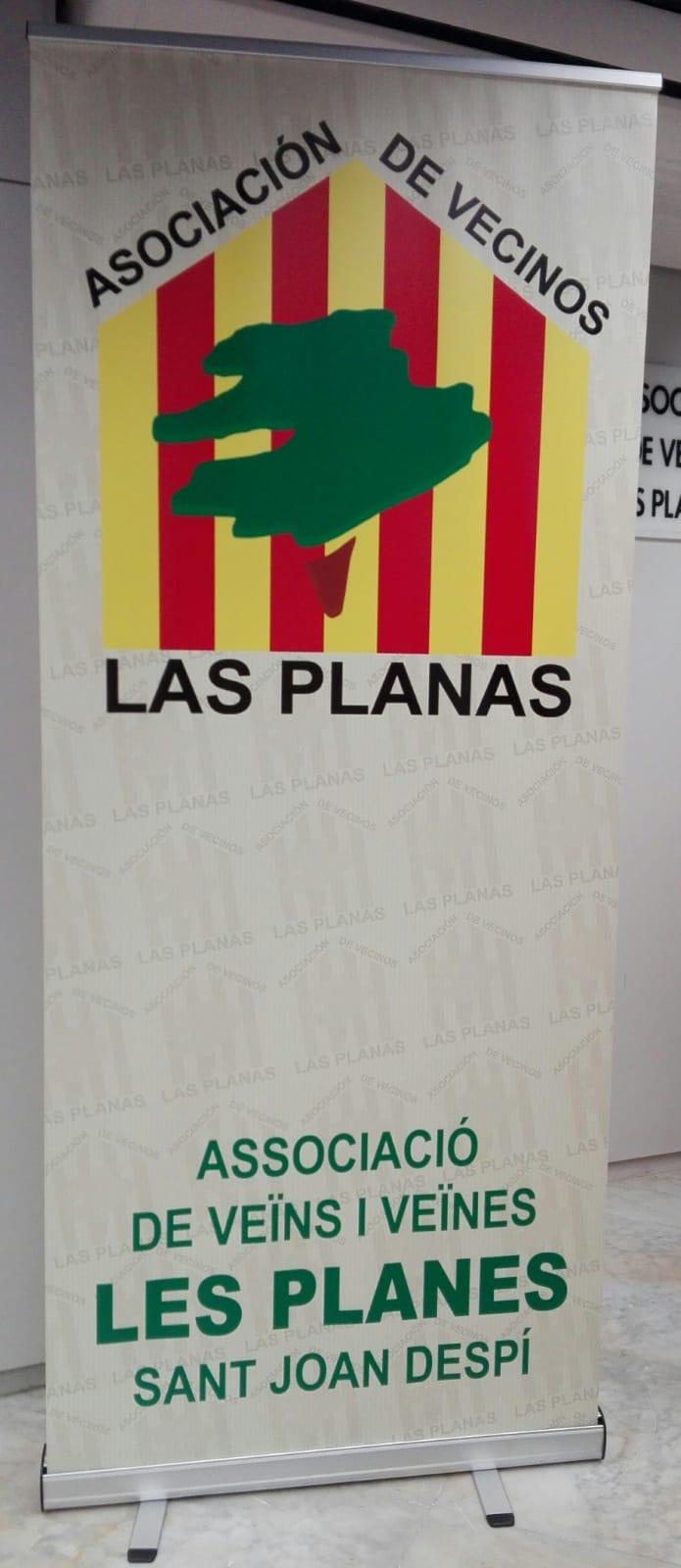 Publicidad Integral para la Asociación de Vecinos de Sant Joan Despi Tot Grafic, diseño e impresión de publicidad personalizada en todos los formatos Diseño de campaña puntual con flyers, roll-app, pancarta y tarjetas